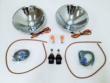 Ford Model A Car 12 Volt Halogen Headlight Headlamp Reflector Kit w/ Turn Signal