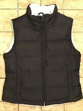 Athletic Work Full Zip Goose Down Puffer Vest, Womens Size Medium, Blue & Black
