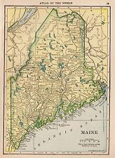 Maine Date Range Antique North America Atlas Maps For Sale - Antique map of maine