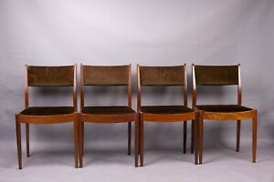 Mid-century G-Plan afromosia dining chairs set of 4 retro vintage 1960s 70s
