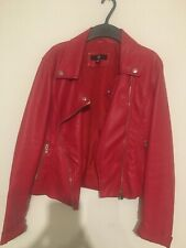 Leather jacket  Red , size 8, used 3-4 times has a mark on the back. Misguided