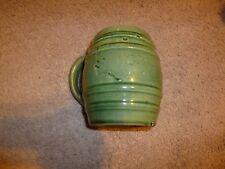 VINTAGE MCCOY UHL GREEN MUG INDIANA BANDED BARREL STONEWARE MUG CUP CROCK #16