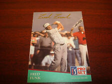Fred Funk 1991 Pro Set PGA Golf #54 Maryland Signed Authentic Autograph A17