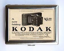 Retro Camera AD Cigarette Case Wallet Business Card Holder id case kodak ad