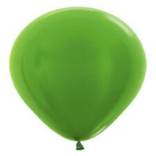 """12 Metallic Keylime Latex Balloons Helium Grade 11"""""""