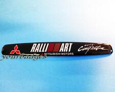 Aluminio cepillado Mitsubishi Motors Ralli Art espíritu de competencia coche insignia