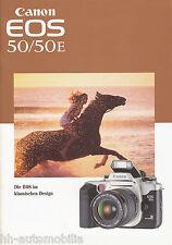 Prospetto Canon EOS 50 50e 9/96 brochure opuscolo CAMERA TELECAMERE 1996 Giappone