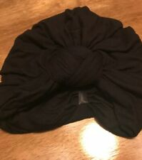 Head Cover for Women Basic Turban/ Cancer patients Black Nwot