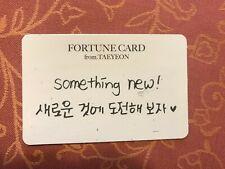 Girls Generation SNSD Taeyeon Fortune scratch card concert 's one kpop #30K