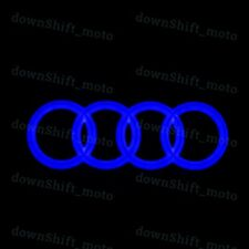 Audi Chrome Grill Grille Front Hood A1 A3 A4 A5 A6 A7 Q3 Q5 Q7 BLUE LED Emblem
