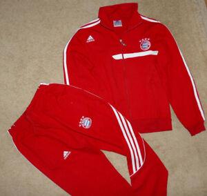 ADIDAS Trainingsanzug,Trainingsjacke,Sport Hose  FC BAYERN MÜNCHEN ROT Gr.152