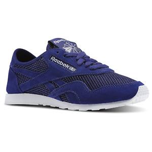 Reebok Classic Nylon Slim Mesh Retro Sneaker Sport Shoes Trainers blue V71884