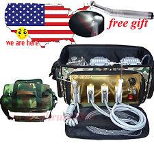 410W Mobile backpack bag Dental treatment Unit + Air Compressor Suction Syringe