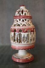 Photophore pied de lampe à décor ajouré en faïence earthenware lamp
