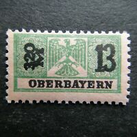 Germany Nazi 1914 - 1939 Stamp MNH Eagle Revenue Overprint oberbayern WWII Third