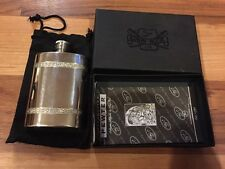 Stunning Boxed Edwyn Blyde Pewter Hip Flask With Celtic Design