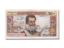 Billets, 50 Nouveaux Francs Type Henri IV #11902