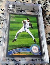 DEREK JETER 2011 Topps BLACK SP 25/60 BGS 9 9.5 Yankees HOF 5 World Series Rings