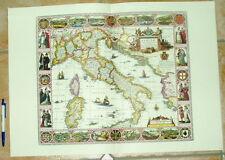 Italia Italia vecchia cartina riproduzione 60 x 43 cm