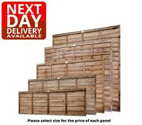 Chestnut Wooden Garden Waney Lap Overlap Fence Panels 6ft 5ft 4ft 3ft 2ft