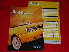 SEAT Ibiza Cupra 2 Prospekt + Preisliste von 1998