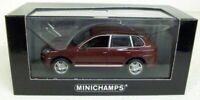 MINICHAMPS 1/43 - 400 066270 PORSCHE CAYENNE TURBO - RED METALLIC
