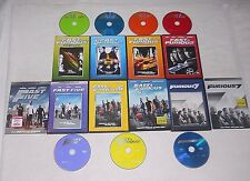 Paul Walker FAST & FURIOUS Collection 1-7 Vin Diesel EXCELLENT COND. The Rock WS