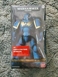 Warhammer 40k Bandai Ultramarine Primaris Intercessor Space Marine Action Figure