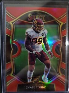 2020 Panini Select Red Prizm Chase Young SP 73/99