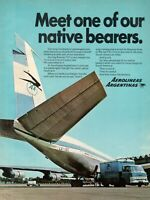 1969 Original Advertising' Aerolineas Argentinas Company Aerial Meet One of Our