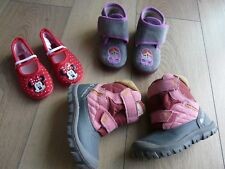 Lot de chaussure 24 fille Bottes de neige Quechua  Après ski + Minnie + Bellamy