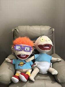 "Vintage Rugrats Plush Tommy Pickles & Chuckie F LRG 24"" Dolls 1997 Mattel Viacom"