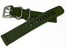 Genuine 18mm Seiko Strap Model 4K11JZ Green Nylon Strap Band Watch Model SNK805