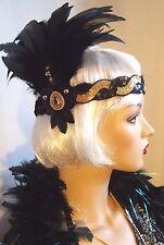 Chapeau Jules Vintage 1920's Flapper Feather Headband Dress Headpiece Gatsby NEW