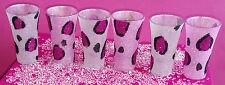 6 vasos de chupito de Leopardo Conjunto de vino de vidrio de brillo presente Boda Cumpleaños Navidad