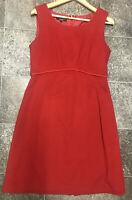 LAURA ASHLEY UK 14 Fit Flare A Line Red Shift Dress Party Evening Wedding Cute
