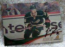 Minnesota Wild Chad Rau Signed 2-11/12 Pinnacle Rookie Card Auto