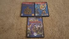 PlayStation 2 Game Lot: Bully,  Jak 2 and Theme Park Roller Coaster