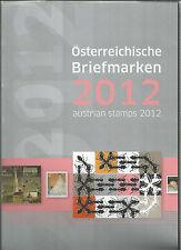 Österreich Jahreszusammenstellung der österr Post  2012  postfrisch  komplett