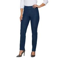 Isaac Mizrahi Live! Regular 24/7 Denim Straight Leg Jeans Medium Indigo Size R6