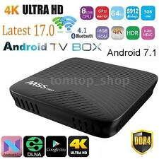 3G+16G Android 7.1 M8S PRO Smart TV Box Amlogic S912 8-Core 3D BT 4K Movies H5F3