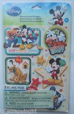 ~DISNEY MICKEY FAMILY BOYS~ Dimensional Stickers EK SUCCESS; Pluto, Donald Duck