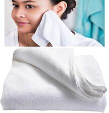 WHITE MICROFIBRE FACE CLOTH Super Absorbent Soft Lightweight Make Up Remover