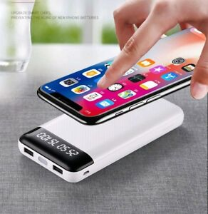 20000mAh Qi Fest Wireless Charger Power Bank Backup Battery for iPhone-Samsung