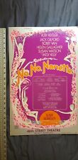 No, No Nanetter 46th Street Theater Old Collectible Poster