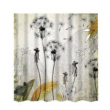 Polyester Bathroom Shower Curtain Panel Sheer Decor+12 Hook Bathroom Use #11