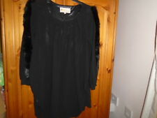Gorgeous black long sleeve mini dress, faux fur on sleeves, ALICE, size 12-14