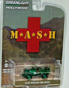 green machine 1942 willys mb jeep MASH chase 1/64 diecast new car greenlight