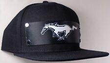 Hat Cap Front Nylon Strap Ford Mustang Pony Black FMAV