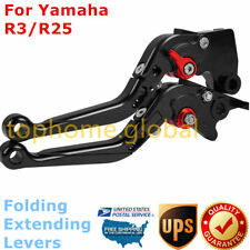 For Yamaha R3 2014-2018 Folding Extendable Clutch Brake Levers Black/Red US R25